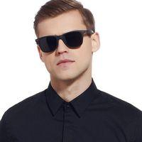 Okulary przeciwsłoneczne męskie polaryzacyjne tr90 - czarny