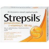 Strepsils pomarańczowy z wit.C 100 24 pastyl. (5909990192328)