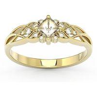 Węc - twój jubiler Pierścionek z żółtego złota z cyrkoniami bp-86z-c