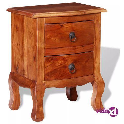 a6a7c55dafcd73 Szafka nocna z szufladami, lite drewno akacjowe (vidaXL) recenzje ...