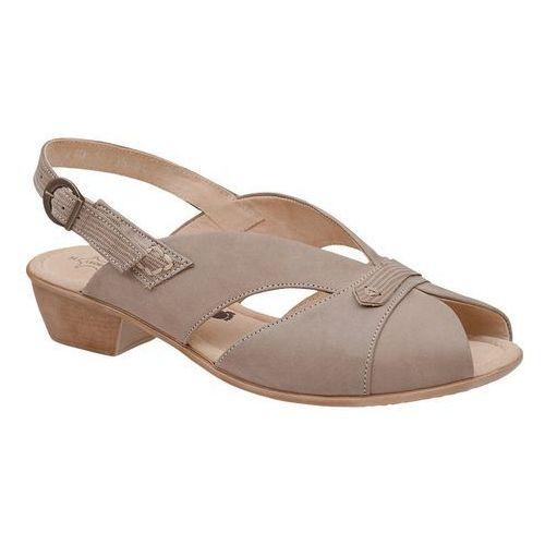 Sandały AXEL Comfort 2210 Beż Wosk Egzotico Beżowe na haluksy Tęgość H, kolor beżowy