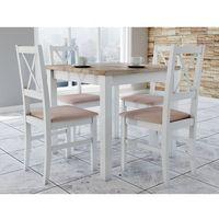 Kwadratowy stół + 4 krzesła zestaw do kuchni marki Sandow