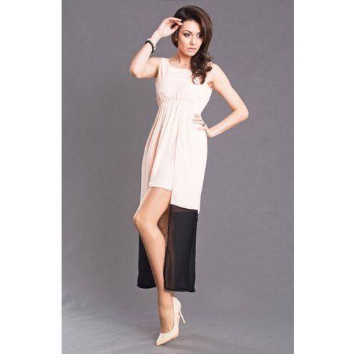 Emamoda sukienka - brzoskwiniowy 6102-2