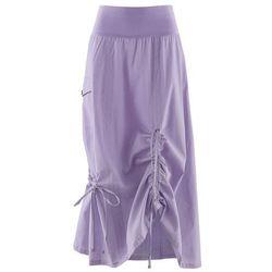 Spódniczka lniana bonprix kolor bzu, kolor fioletowy