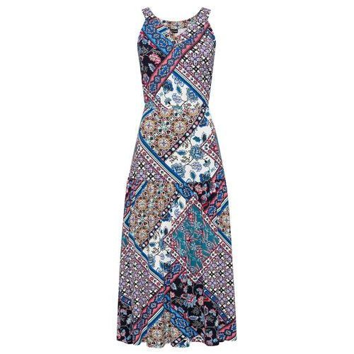Sukienka lniana bonprix ciemnooliwkowy, w 4 rozmiarach