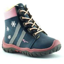 Dziecięce buty zimowe Wojtyłko 11807 - Różowy ||Granatowy, kolor różowy