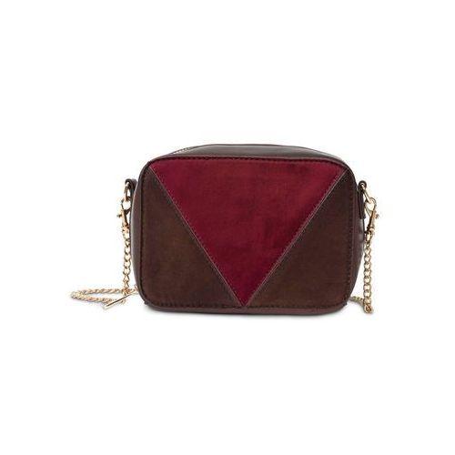 f19bf3e25930d Mała torebka na ramię bonprix brązowo-jeżynowo-oliwkowy - fotografia  produktu
