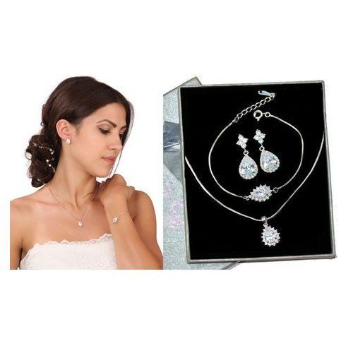 Kpl883 komplet ślubny, biżuteria ślubna z cyrkoniami b599/811 n599/814 k599/565