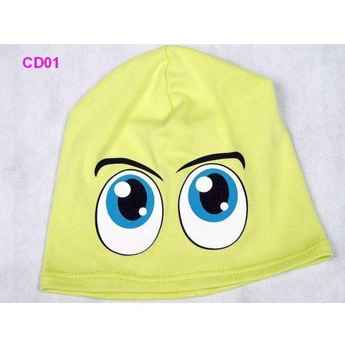Czapka dziecięca bawełna oczy beanie krasnal ciamajda - cd01 marki Tara