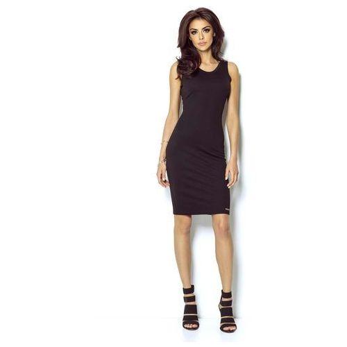 c97a54f6a3 Czarna sukienka ołówkowa z dekoltem na plecach (IVON) - sklep ...