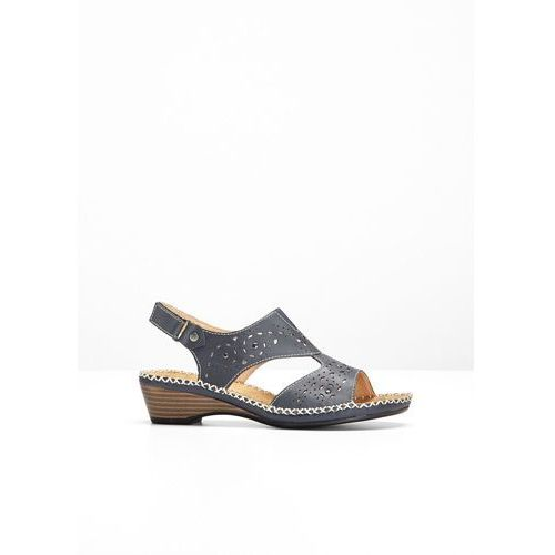 536f65c34b3cc0 Wygodne sandały skórzane bonprix ciemnoniebieski, kolor niebieski -  Fotografia
