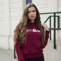 GymBeam Damska Bluza z kapturem Burgundy White