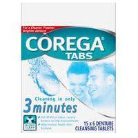 Corega tabs tabletki do czyszczenia protez w 3 minuty - 6 szt. marki Glaxosmithkline
