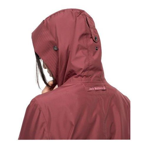 Płaszcz przeciwdeszczowy damski MONTEREY COAT WOMEN auburn L, 1 rozmiar (Jack Wolfskin)