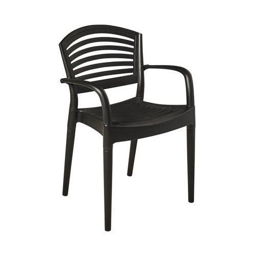 Ołer Garden Krzesło Ogrodowe Plastikowe Como Antracytowe Ołer Garden