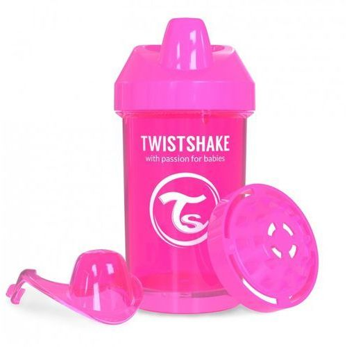 Twistshake - Kubek niekapek z mikserem do owoców, różowy 300ml