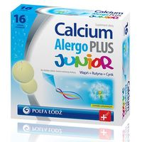 Calcium Alergo Plus Junior (smak cytrynowy) 16 tabl. (5907698307334)
