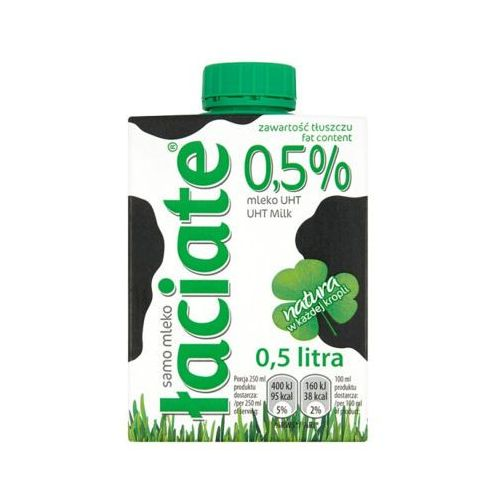 Łaciate 500ml mleko uht zielone 0,5