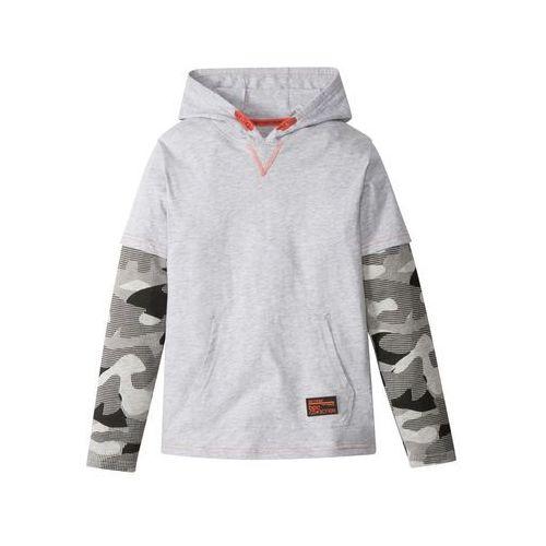 Shirt chłopięcy 2 w 1 w deseń moro bonprix jasnoszary - moro
