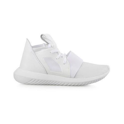 Adidas originals tubular defiant tenisówki i trampki wysokie chalk white