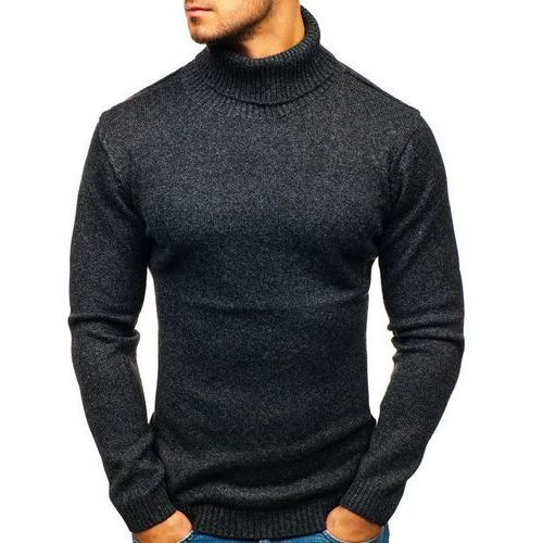 Sweter męski golf czarny denley h1800, Hot red