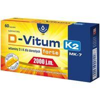 D-Vitum forte 2000 j.m. K2 MK7 witamina K i D dla dorosłych 60 kaps (5904960012088)