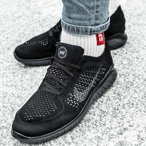 Nike Free Rn Flyknit (942838-002), kolor czarny