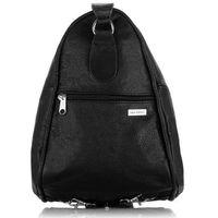 Skórzany plecak i torebka damska paolo peruzzi b-09 czarna