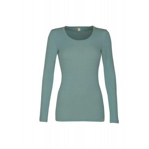 Koszulka damska z wełny merynosów (100%) - długie rękawy - pastelowy zielony (prod. dilling), Dilling (dania)