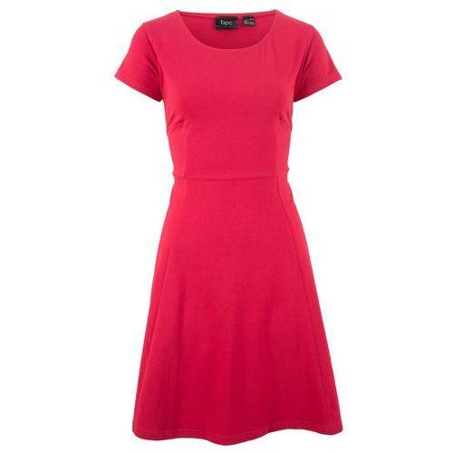 Bonprix Sukienka shirtowa czerwony