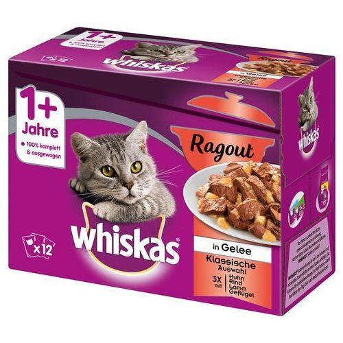 Whiskas 1+ ragout, 12 x 85 g - wybór drobiowy w galarecie