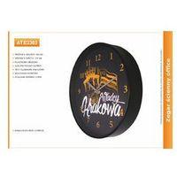 Zegar reklamowy 10' czarny /255mm, ATE2303B
