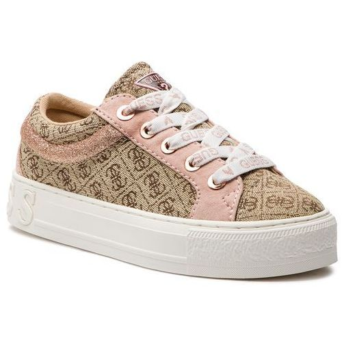 Sneakersy - fl5ly2 fal12 beige/brown marki Guess