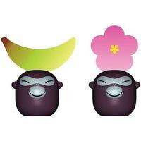 Wizytownik na stół banana babies 2 szt. banan i kwiat