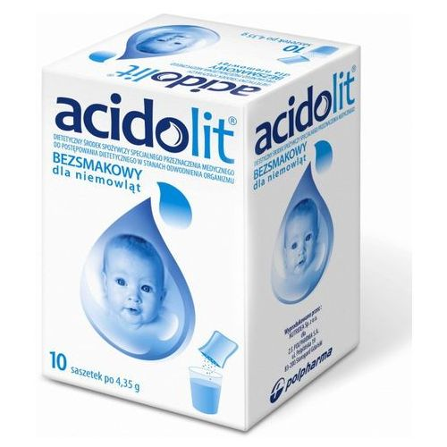 Acidolit bezsmakowy d/niemowląt pr.do p.rozt.doust. - 10 sasz.a 4,35g