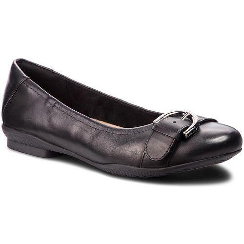 42e62c21dd66f9 Clarks Baleriny - neenah lark4 black leather Clarks