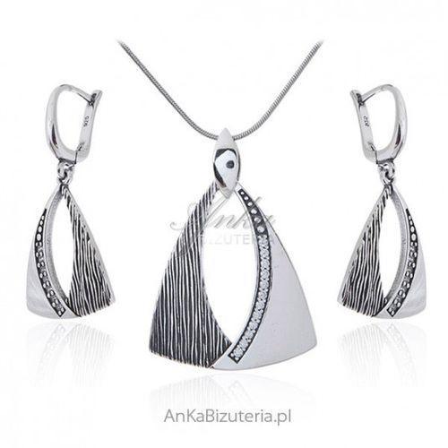 eee558c92b84bd Zobacz w sklepie Ankabizuteria.pl Biżuteria srebrna komplet oksydowany z  zakuwaną cyrkonią