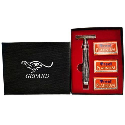 Tradycyjna maszynka do golenia wood wenge żyletki Gepard - Godna uwagi obniżka