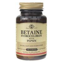 Tabletki Solgar Betaina (chlorowodorek) z pepsynami - 100 tabletek