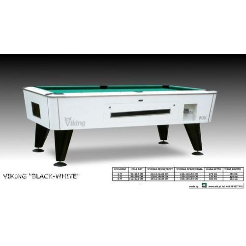 Stół bilardowy VIKING BLACK-WHITE