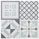 Panele podłogowe winylowe GoodHome 30,5 x 30,5 cm black & white cement tiles