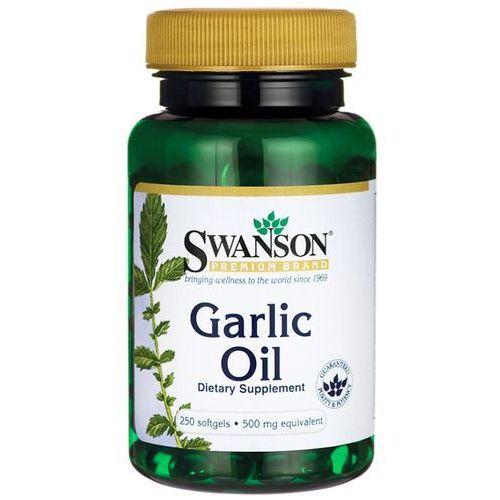 Swanson Garlic Oil (Olej z Czosnku) 500 mg 250 kapsułek