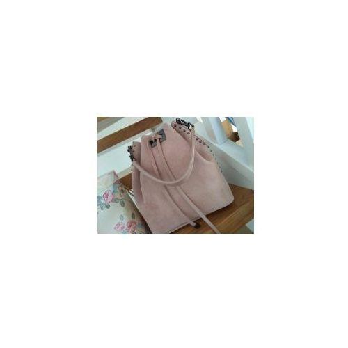 22242434acb7d ▷ Włoski zamszowy worek pudrowy róż (Vera Pelle) - opinie / ceny ...