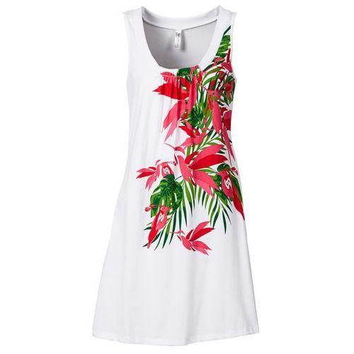 Sukienka plażowa bonprix biały