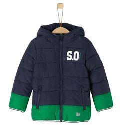 s.Oliver chłopięca kurtka, 110, niebieska/zielona, kolor zielony