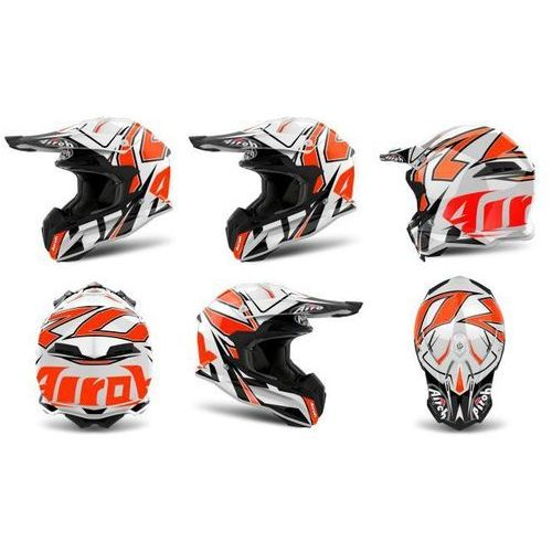 Kask airoh terminator open vision shock org-gloss marki Airoh_sale