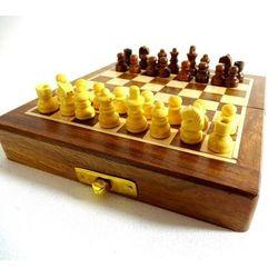 SZA5 składane drewniane szachy magnetyczne 12,5x12,5cm