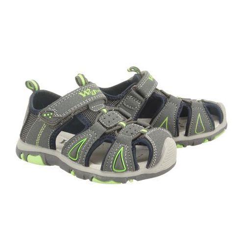 WOJTYŁKO 2S3009 szary/zielony, sandały dziecięce, rozmiary: 25-28 - Szary