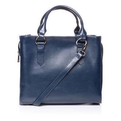 35a578e1c89d0 Granatowa casualowa torebka do ręki i na ramię marki Moe MOLLY
