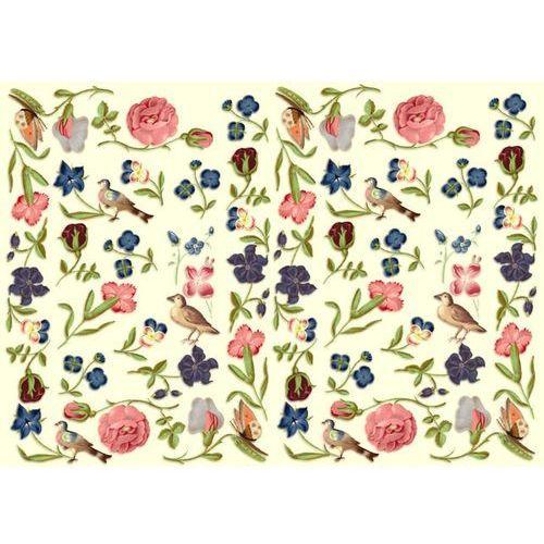 Papier do decoupage A3 ITD 002 kwiaty i ptaszki x1